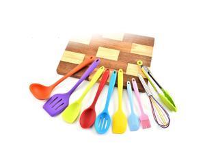 Kitchen Utensils Set 10Pcs Colorful Silicone Non-stick Cooking Utensil All Over Silica Gel Utensil Kitchenware Set