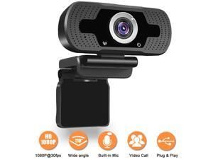 1080P Full HD Webcam,Computer Laptop Camera for Conference and Video Call, Pro Stream Webcam with Plug and Play Video Calling,Built-in Mic