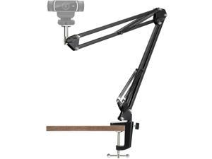"Webcam Stand - 14 Inch Suspension Scissor Durable Arm with Aluminum Desk Clamp Mount - Built-in 1/4"" Screw for Logitech Webcam C930e,C930,C920, C922x,C922, Brio 4K, C925e,C615"