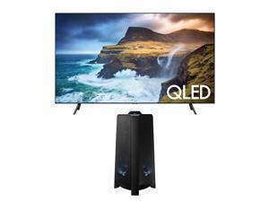 Samsung 75 Inch Flat QLED 4K Q70 Series - QN75Q70RAFXZA - Bundle Samsung 500W Giga Party Audio - MX-T50/ZA