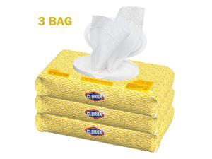 CLOROX Disinfecting 75 Wet Wipes Kills 99.9% of Viruses & Bactria - 3 BAG