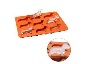 Silicone Dachshund Shaped Ice Cube Chocolate Cookie Mold DIY Home Ice Tray