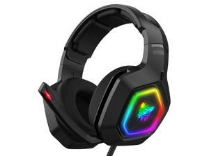 ONIKUMA K10 E-sports Headphones Eat Chicken Game RGB Light Wired Computer Headset