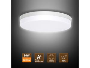 LED Ceiling Light, Ouyulong 36W 3240LM 6500K Round Non-dimmable Ceiling Light Fixture for Kitchen, Bedroom, Living Room, Hallway, Basement, Office and More( Cool White)