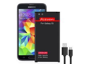 Galaxy S5 Battery Acevan 2950mAh Replacement Battery for Samsung Galaxy S5, G900F, Sprint G900P, Verizon G900V, T-Mobile G900T, AT&T G900A, G900H, G900W8, G900R4, I9600 [2 Year Warranty]