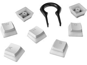 HyperX Pudding Keycaps - Double Shot PBT Keycap Set with Translucent Layer, for Mechanical Keyboards, Full 104 Key Set, OEM Profile, English (US) Layout - White