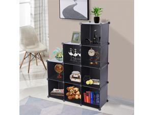 Cube Storage 9-Cube Closet Organizer Storage Shelves Cubes Organizer DIY Closet Cabinet Black