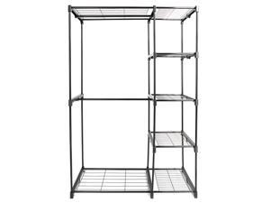 Portable Practical Five-tier Wardrobe without Cloth Cover Black