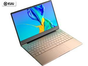 "KUU-K2 14.1"" IPS Screen All Metal Shell Champagne Gold Office Notebook Intel Celeron Processor J4115 8GB DDR4 RAM 256GB SSD Windows 10 Laptop Computer with Fingerprint Unlock Backlit Keyboard"
