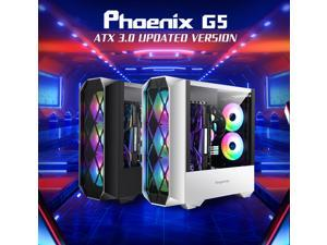 Segotep Phoenix G5 Gaming Case Horizontal Airflow ATX/M-ATX/ITX Tempered Glass Side Panel