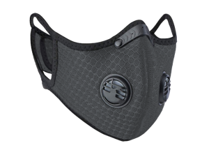 Slate Gray PM2.5 Reusable Face Mask Nylon Mesh for Pollen Allergy Pollution Cycling Outdoor Sports Anti Dust with Activated Carbon Filter