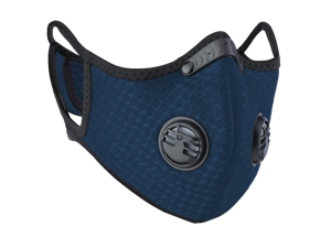 Dark Blue PM2.5 Reusable Face Mask Nylon Mesh for Pollen Allergy Pollution Cycling Outdoor Sports Anti Dust with Activated Carbon Filter