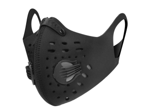 Solid Black PM2.5 Reusable Face Mask Neoprene for Pollen Allergy Pollution Cycling Outdoor Sports Anti Dust with Activated Carbon Filter