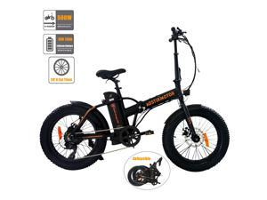 """AOSTIRMOTOR Electric Bikes for Adults, 20""""4.0 inch Fat Tire Ebike, Folding Electric Bicycle with 500W Motor, 36V 13AH Removable Lithium Battery A20."""