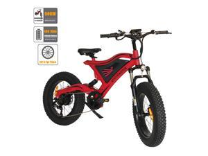 """AOSTIRMOTOR Electric Mountain Bike 20"""" 4.0 inch Fat Tire Ebike, 500W motor, 48V 10AH Removable Lithium Battery, Electric Bicycle for Adults S18-M(Red)"""