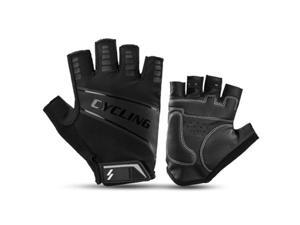 AOSTIRMOTOR Cycling Gloves Bicycle Gloves Half Finger Shock-Absorbing Breathable Anti-Slip Sports Gloves for Man & Woman