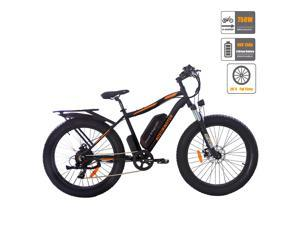 "AOSTIRMOTOR 750W Electric Bike, 26"" Fat Tire Shimano 7-Speed Ebike, 48V 13AH Removable Lithium Battery Electric Mountain Bicycle for Adults S07-B"