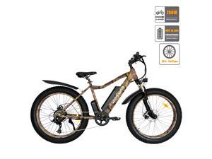 "AOSTIRMOTOR Electric Bike, 750W Motor 26""Fat Tire Ebike, 48V 10.4AH Removable Lithium Battery Electric Mountain Bicycle for Adults S07-2-C"