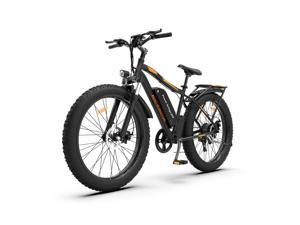 """AOSTIRMOTOR 750W Electric Bike, 26"""" Fat Tire Ebike, Shimano Outer 7 Speed, 48V 13AH Removable Lithium Battery Electric Mountain Bicycle for Adults S07-B"""