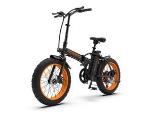 "AOSTIRMOTOR Folding Electric Bike 500W Motor, 20""Fat Tire Shimano 7-Speed Ebike, 36V 13AH Removable Lithium Battery Electric Mountain Bicycle for Adults A20"