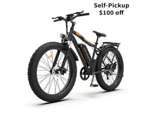 "AOSTIRMOTOR 750W Electric Bike, 26"" Fat Tire Ebike, 7-Speed Shimano Gears, 48V 13AH Removable Lithium Battery Electric Mountain Bicycle for Adults S07-B"