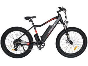 """AOSTIRMOTOR Electric Bike, 750W Motor 26""""Fat Tire Ebike, 48V 10.4AH Removable Lithium Battery Electric Mountain Bicycle for Adults S07-2"""
