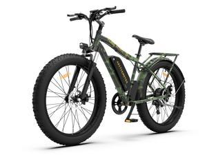 """AOSTIRMOTOR 750W Electric Bike, 26"""" Fat Tire Ebike, 7-Speed Shimano Gears, 48V 13AH Removable -DLithium Battery Electric Mountain Bicycle for Adults S07-D"""