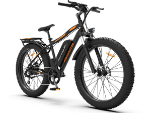 """AOSTIRMOTOR Electric Bike, 750W Motor 26""""Fat Tire Ebike, 48V 13AH Removable Lithium Battery Electric Mountain Bicycle for Adults S07-B"""