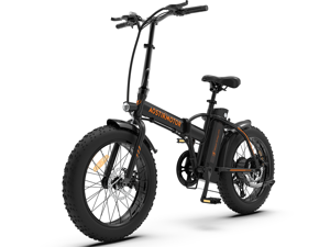 """AOSTIRMOTOR Folding Electric Bike 500W Motor, 20"""" Fat Tire Shimano 7-Speed Ebike, 36V 13AH Removable Lithium Battery Electric Mountain Bicycle for Adults A20"""