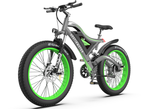 """AOSTIRMOTOR Electric Bike for Adults 26"""" 4.0 inch Fat Tire Ebike, 750W Motor Electric Mountain Bicycle, 48V 15AH Removable Lithium Battery S18(Green)"""