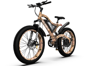 """AOSTIRMOTOR 1500W Electric Bike, 26"""" 4.0 inch Fat Tire Shimano 7-Speed Ebike, 48V 15AH Removable Lithium Battery Electric Mountain Bicycle S18-1500W"""