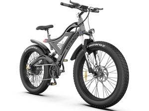 """AOSTIRMOTOR Electric Bike for Adults 26"""" 4.0 inch Fat Tire Ebike, 750W Motor Electric Mountain Bicycle, 48V 15AH Removable Lithium Battery S18"""