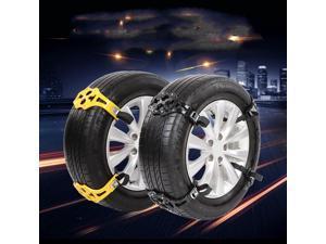 8Pcs TPU Snow Chains Universal 165-295mm Tyre Winter Roadway Safety Tire Snow Climbing Mud Ground Anti Slip anti-skid Chains