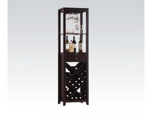 Vintage Style Wine Cabinet Wenge Dining Room Furniture 12244 Cabinet US Warehouse In Stock same as picture