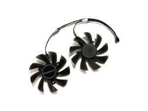 2pcs/set RX-570/580 AORUS GPU Cooler Cooling Fan For GIGABYTE RX 580 RX570 AORUS Grahics Card VGA Replacement