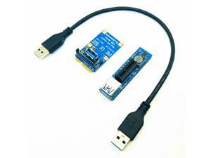 PCIE Riser Cable Mini PCIE to PCI-E X1 Riser Card PCI Express X1 Port Adapter SATA Power PCIE Extender 30cm USB Extension Cable