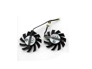 2 pcs/lot PowerLogic PLA07010S12HH 65MM 0.50A Long Life Bearing Graphics Card Fan For MSI 5770 6770 Twin Frozr II as replacement