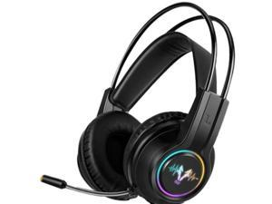 V9000 Computer Gaming Headphone with Microphone Internet Cafe Wired Gaming Headset 7.1 Channel Headset,Black