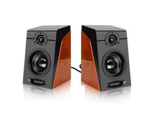 3Wx2 Computer Speakers with Surround Stereo USB Wired Powered Multimedia Speaker for PC/Laptops/Smart Phone