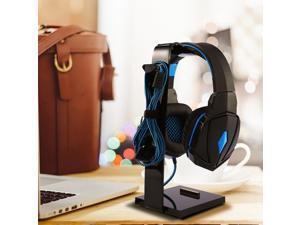 Universal Gaming Headset Stand Holder Headphone Hanger Rack Mount,Black
