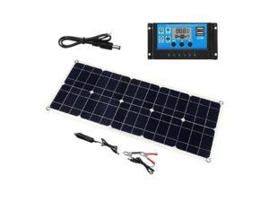 100W 18V Dual USB Solar Panel Battery Charger+30 PWM Solar Controller for Boat Car Home Camping Hiking 30A,30A
