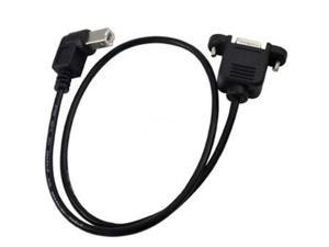 0.5M 90 degree right angled USB B Male to Female Panel Mount extension cable printer,As picture