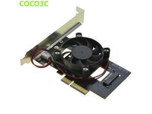 PCI-e 4x to M Key NGFF SSD Adapter for SAMSUNG 950 PRO XP941 PM951 M.2 PCIe 3.0 SSD Desktop Ultra Speed Predator Fan Cooler Kit