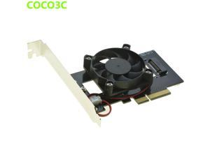 PCIe to M Key NGFF SSD Adapter for SAMSUNG 950 PRO XP941 PM951 M.2 PCIe 3.0 x4 SSD Desktop Ultra Speed Predator Fan Cooling