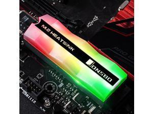 Jonsbo M.2-2 Gorgeous Lighting M.2 SSD Heatsink 5V 3Pin Solid State Hard Disk Cooler Radiator Heat Thermal Cooling pad