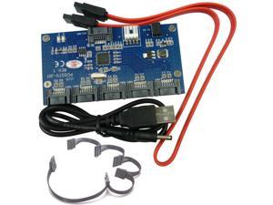 1 to 5 SATA 2.0 Port Multiplier Card adapter 3Gbps SATA II PM converter + 15Pin 1-to-5 SATA Power Cable