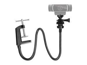 Camera Bracket with Enhanced Desk Jaw Clamp Flexible Gooseneck Stand for Webcam Brio 4K C925e C922x C922 C930e C930 C920 C615