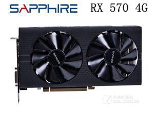 SAPPHIRE Radeon RX 570 4G 4GB RX570 256bit GDDR5 PCI Express 3.0 desktop gaming graphics cards video card 7000MHz DP DVI HDM