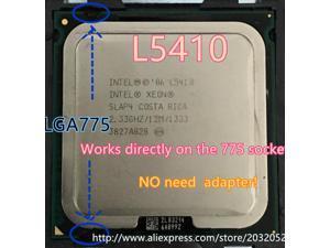 Lntel Xeon L5410 2.33GHz/12M/1333Mhz/CPU equal to LGA775 Core 2 Quad Q8200 CPU,works on LGA775 mainboard no need adapter