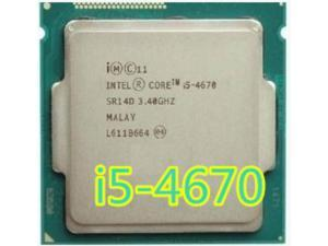 Intel Core I5 4670  i5 4670  3.4GHz 6MB Socket LGA 1150 Quad-Core CPU Processor SR14D i5-4670 1150